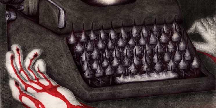 Dibujo: Agonía creativa (La Nada). detalle banner | por: Gustavo Adolfo Diaz G.