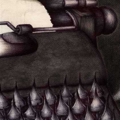 Dibujo: Agonía creativa (La Nada). detalle 4 | por: Gustavo Adolfo Diaz G.