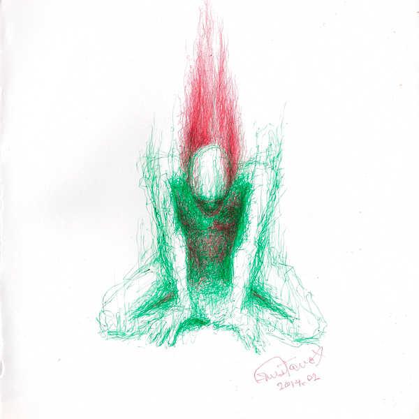 Dibujo: Rojo y verde; Negro 01