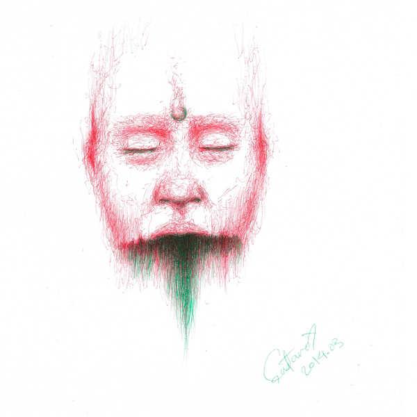 Dibujo: Rojo y verde; Negro 03