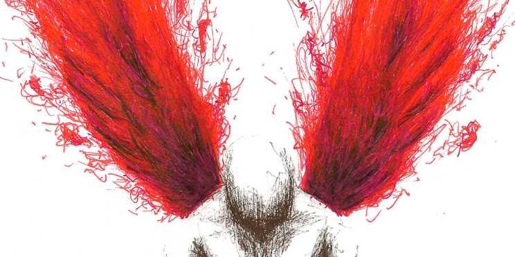 Dibujo: Rojo y negro; Blanco 04 (detalle banner)