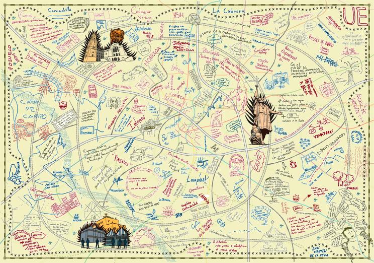 Mapa imaginario compuesto de infinidad de elementos