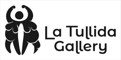 Imagotipo de la galería en gris oscuro sobre blanco