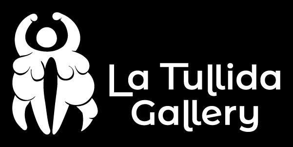Imagotipo en blanco sobre negro en formato horizontal, isotipo a la izquierda y logotipo a la derecha