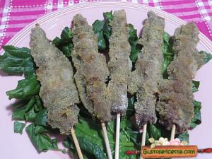 arrosticini panati agli spinaci, buoni e facili da preparare