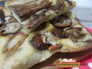 Pizza porcini rovesciata Gabriele Bonci