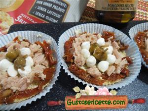 Cheesecake salato pesto e pomodori secchi
