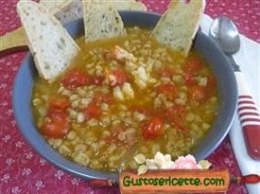zuppa farro e gamberoni