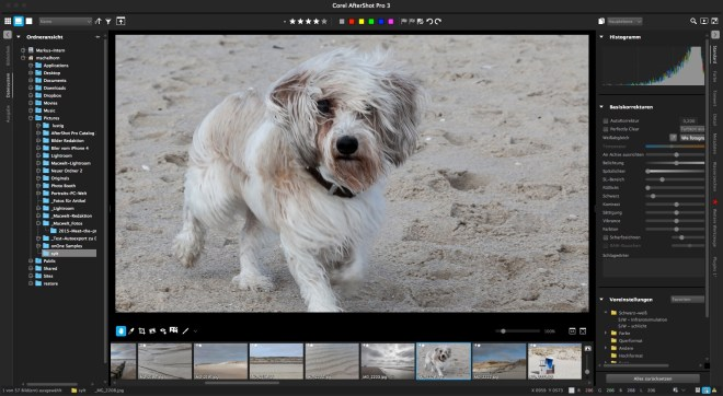 Corel Aftershot Pro 3 versus Adobe Lightroom