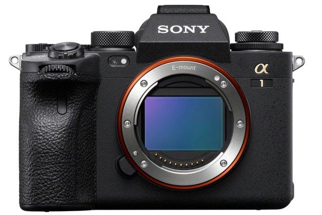 Sony Alpha 1 Vorderansicht ohne Objektiv