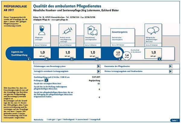 Lutermann und Bister Transparenzbericht 2017