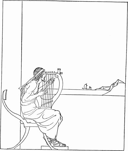 Herald singing of Troy