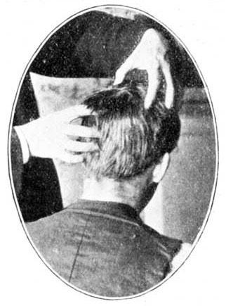 Man getting a head massage.