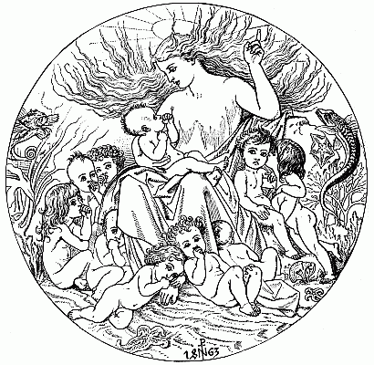 "ILLUSTRATION FROM ""THE WATER BABIES"" BY SIR R. NOEL PATON (MACMILLAN AND CO. 1863)"