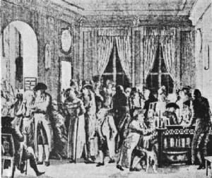Richter's Coffee House in Leipsic—Seventeenth Century
