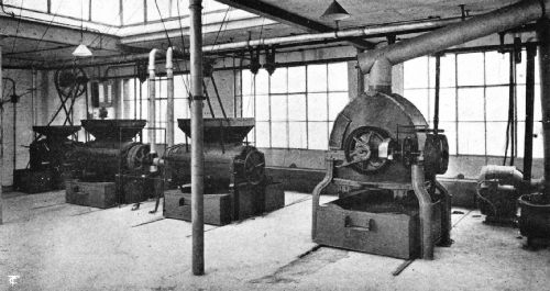 An English Four-Machine Gas Coffee-Roasting Plant
