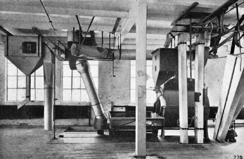 Upper-Story View of a Jubilee Plant, Showing Roaster, Cooler, and Stoner Equipment
