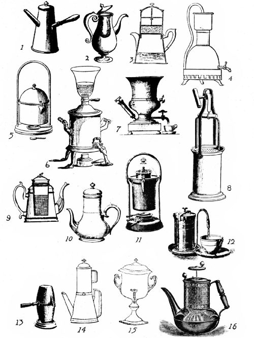 EARLY FOREIGN AND AMERICAN COFFEE-MAKING DEVICES