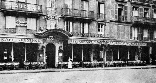 Café de la Régence in 1922