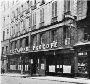 Restaurant Procope, 1922