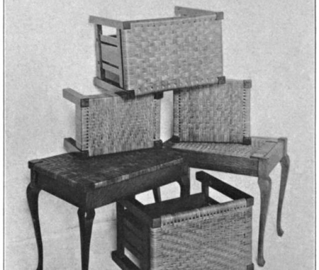 Fig  Woven Top Stools