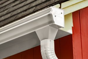 Wide Mouth Gutter Downspout Installation in Austin TX