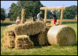 Funny Straw Tractor