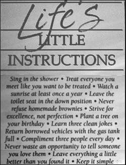 The Little Rules of Life