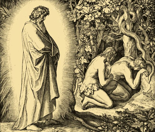 Image result for god adam eve