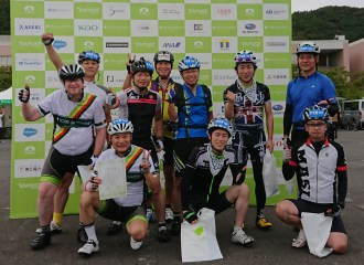 The members of Group B-12 posing after the ride