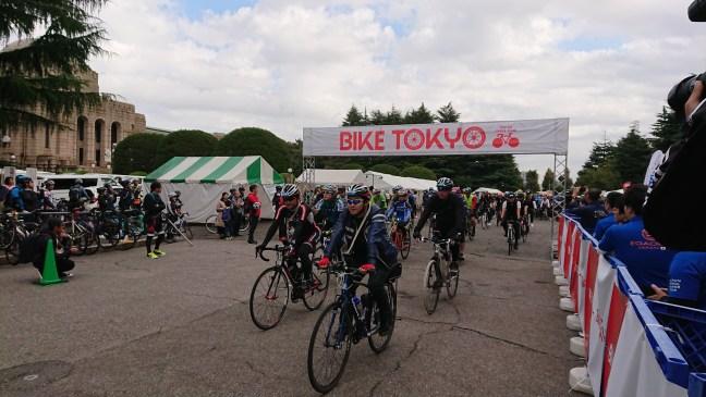 The start of Bike Tokyo 2018