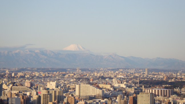 Fujisan after a dusting of snow