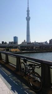 Tokyo Skytree looms over the Arakawa