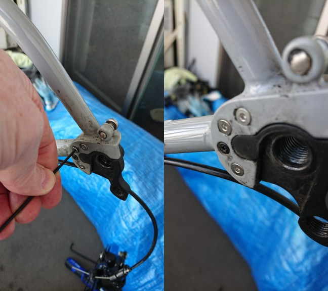 Replacing screws in a rear bicycle dropout