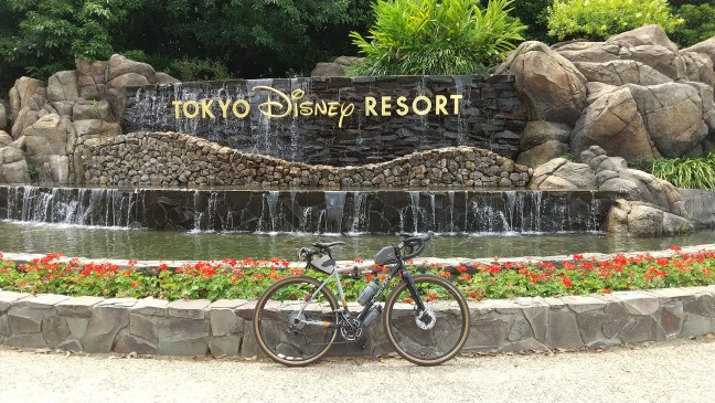 Bicycle in front of Tokyo Disney Resort fountain