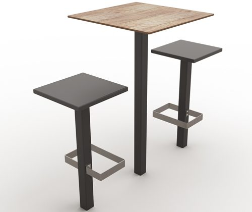 guyon urban furniture high bar table with central stand