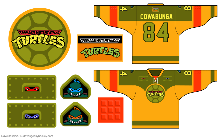 TMNT Hockey Jerseys are the best thing you'll see all day