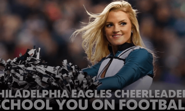 Eagles Cheerleaders Explain Zone Read Option and No Huddle Offense