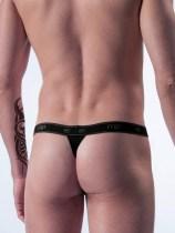 Male Power Bamboo Microstring schwarz backside
