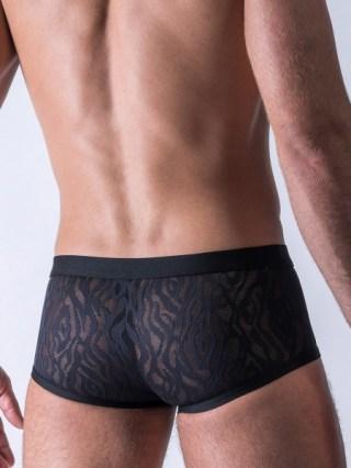 sexy Herrenpant aus schwarzer Spitze
