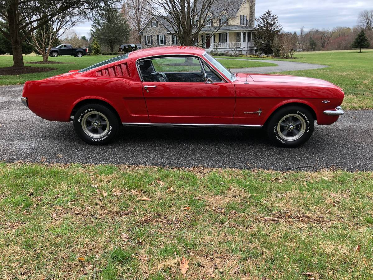   ingot silver metallic   1fa6p8cf2f5405377 1965 Ford Mustang Fastback For Sale Guyswithrides Com