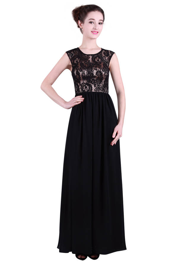 Miss Anne 214349 long dress with lace bodice WAS $229  NOW $150