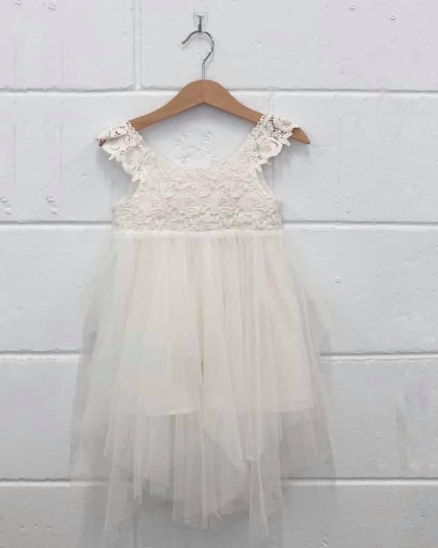 Aurora lace flower girl dress White $85