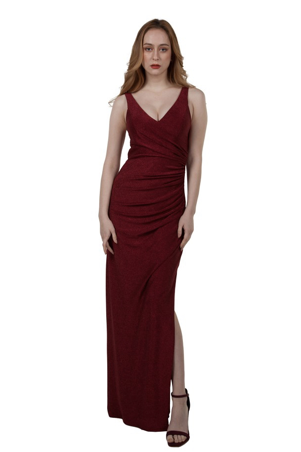 Miss Anne 219486 long formal dress with ruching $249