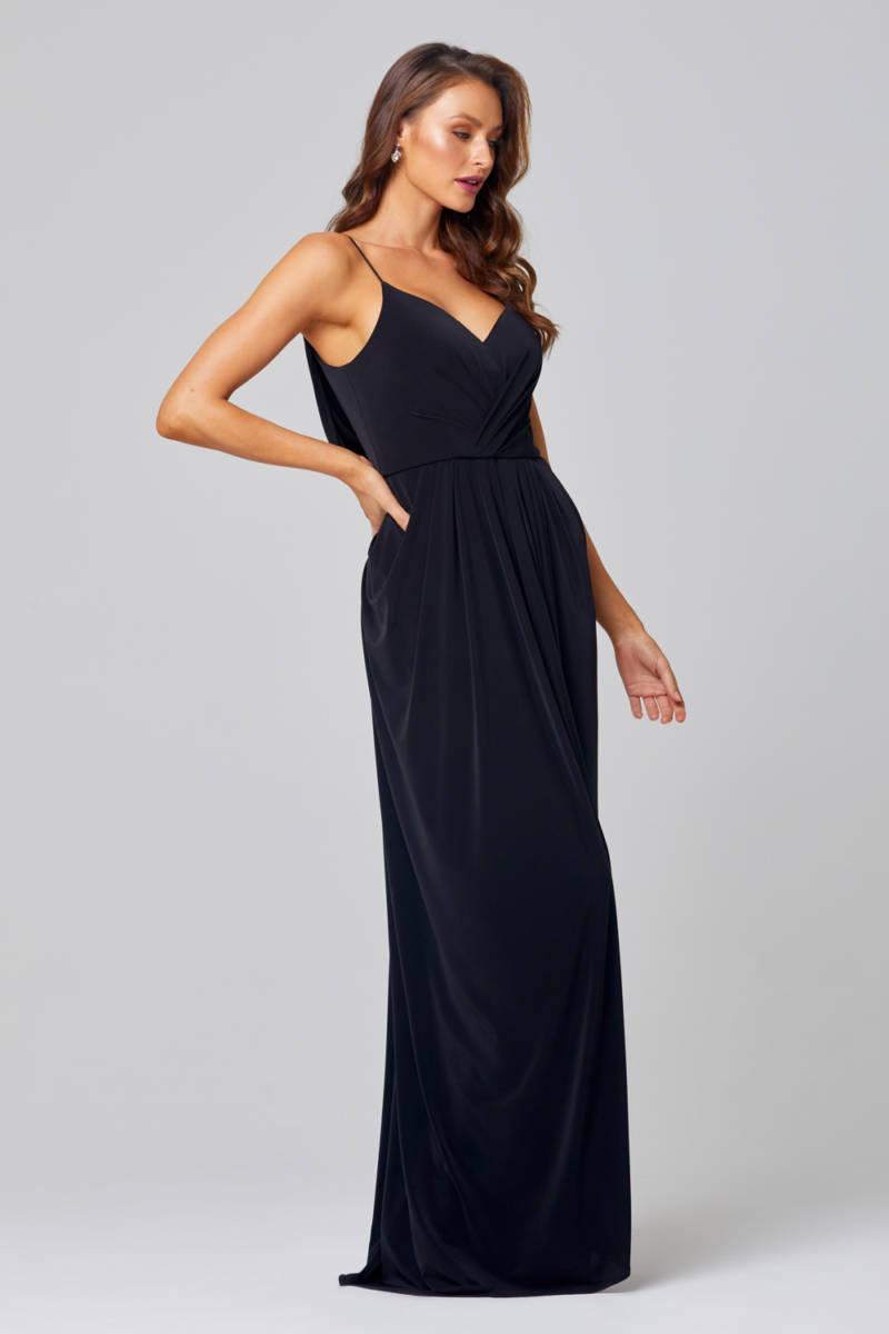 Tania Olsen TO847 long Black Formal or Bridesmaid Dress