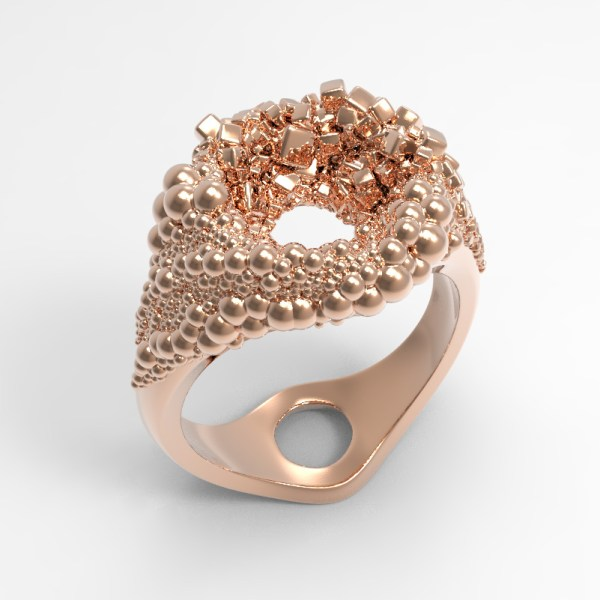 Black Hole – 14k Pink Gold