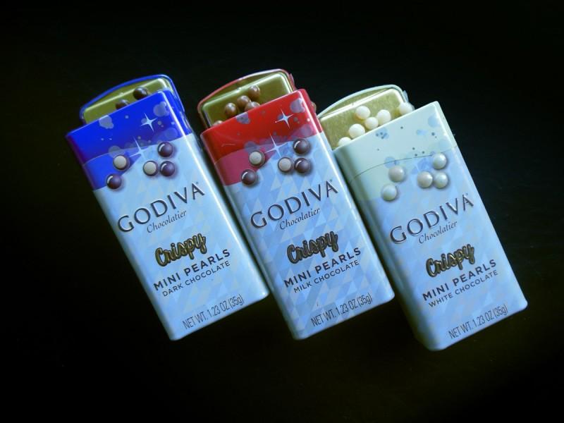 ゴディバのクリスピーミニパール