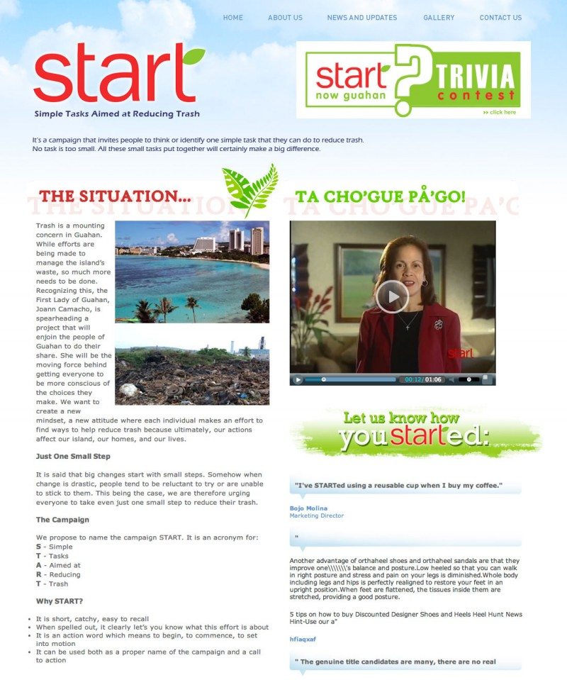 Official START Now Guahan Website