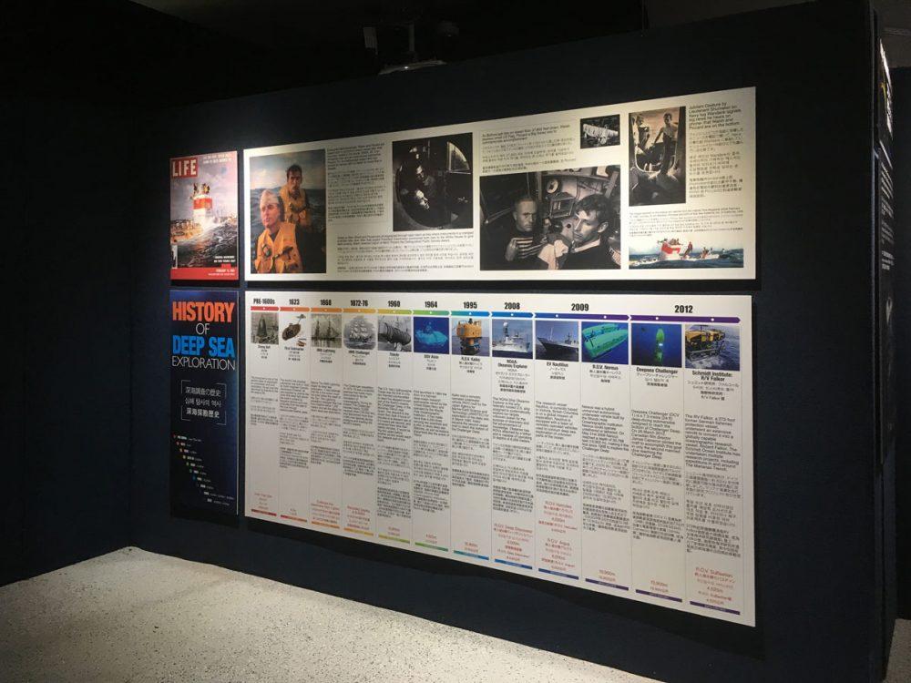 深海探検の歴史 アンダーウォーターワールドのマリアナ海溝展