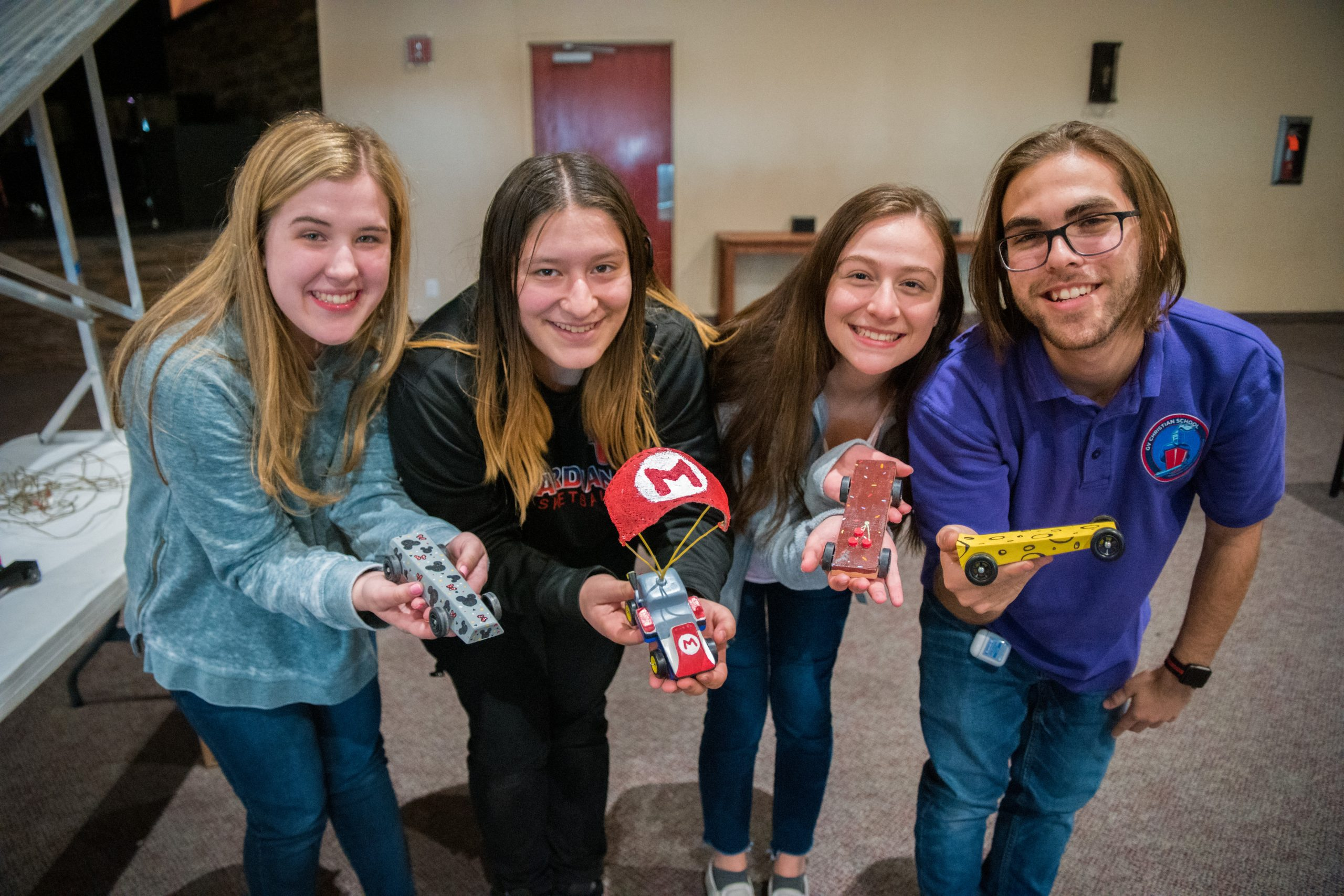 Students With Race Cars
